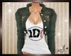 1D Top w/Jacket Grunge