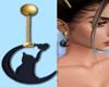 Moon Kitty Earrings
