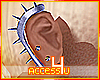 ! Platinum Ear Spikes