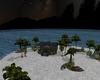 Night lakehouse island