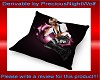 Romanti pink rose pillow