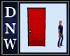 Single Red Cross Door