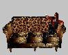 Brown & Gold Elite Sofa