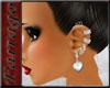 ~F~Silver Heart Earrings