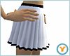 White/Blk Pleated Skirt