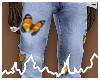 stacked butterfly denim