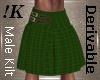 !K! Men's Green Kilt