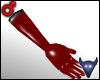 PVC gloves red (m)