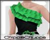 Ruffles Top Green