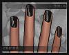 Ⓑ Glossy Black Nails