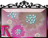*R* Sheer Flower Sticker