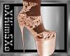 [K] Rose Gold Heels