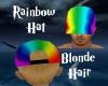 Rainbow Hat-Blonde Hair