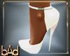 Sara White Spike Heels