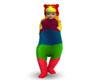 Rainbow bear suit