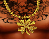 Gold clover chain