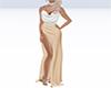 peach white gown