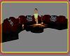 RedBlack couch w skulls