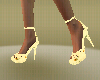 yellow flower heel shoes