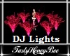 Flower DJ Lights Red