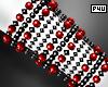 -P- Red Pearl Cuff R