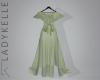 LK| Sheer Wrap Gown Sage