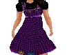 Flat dk Pur check dress