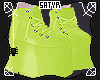 Lime Green Monster Shoes