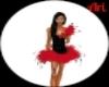 red black cocktail dress