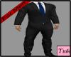 Black Suit blue Tie