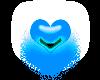 tiny heart blue