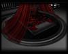 {JV} Black Round Rug
