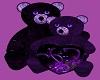 purple love bears