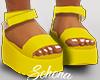 ṩ Platform Sandals Yel