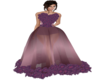 Purple Rose Gown
