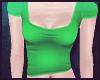 W~ Scoop Tee : Green