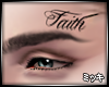 Faith Face Tattoo