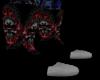 red skull boot