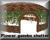 Flower gazebo shelter