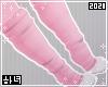 Pink paw socks