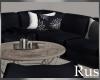 Rus Navy Sofa Set
