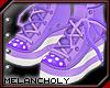 Cupcake Shoes: Purple