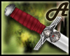 A~ Medieval red dagger M