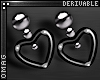 0 | Stud Heart Earrings