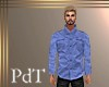 PdT Blue Linen Shirt M