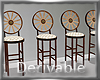 Wagon Wheel Barstools