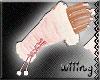 [W] Fur Gloves Pink