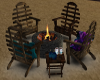 Beach Chairs and Firepit