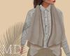 Grey Linen Vest