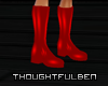 !TB! PVC Red Boots